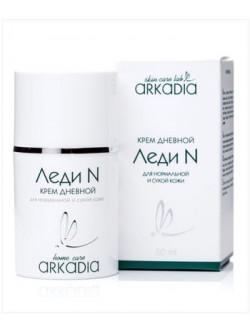 Крем Леди N дневной, Аркадия, 50 мл, с содержанием полиненасыщенных жирных кислот, холестерина и фосфолипидов, купить с бесплатной доставкой по Москве.
