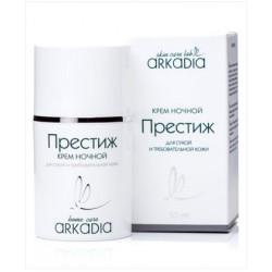 Крем Престиж ночной, Аркадия, 50 мл, для сухой и требовательной кожи - Эффект применения - ANTI-AGE / ПИТАНИЕ