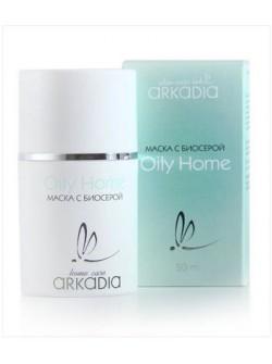 Маска с биосерой Oily Home, Аркадия, 50 мл, также содержит каолин и оксид цинка, купить с бесплатной доставкой по Москве.
