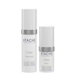 Поддерживающая сыворотка + Флюид активного действия, Antioxidant Night Protector Active Fluid+Serum, Atache, 30 мл + 15 мл - Эффект применения - ANTI-AGE