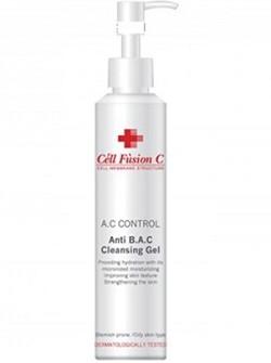 Антибактериальный очищающий себорегулирующий гель для жирной кожи, Anti B.A.C. Cleansing gel, Cell Fussion C - с гиалуроновой кислотой, купить с бесплатной доставкой по Москве.