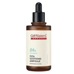 Cica Soothing ampoule Сыворотка для чувствительной жирной кожи (84% CICA КОМПЛЕКС) Cell Fusion C, 100 мл - Эффект применения – ПРОТИВОВОСПАЛИТЕЛЬНЫЙ /  СЕБОРЕГУЛИРУЮЩИЙ ЭФФЕКТ / УВЛАЖНЕНИЕ / УСПОКАИВАЮЩИЙ ЭФФЕКТ