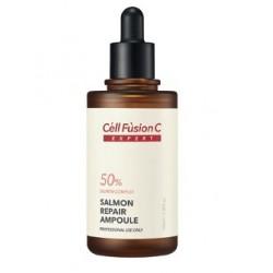 Salmon Repair ampoule Сыворотка для зрелой кожи Cell Fusion C, 100 мл - Эффект применения - ANTI-AGE