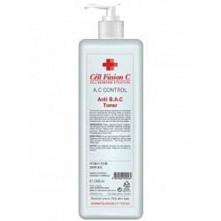 Противовоспалительный увлажняющий тоник для жирной кожи, Anti B.A.C. Toner Cell Fusion C, 1000 мл - Эффект применения - АНТИ-АКНЕ / ПРОТИВОВОСПАЛИТЕЛЬНЫЙ / СЕБОРЕГУЛИРУЮЩИЙ / УВЛАЖНЕНИЕ / УСПОКАИВАЮЩИЙ