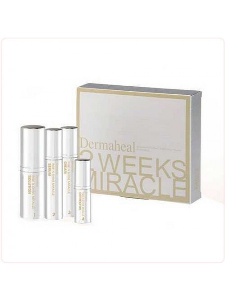 Набор Сияние за 2 недели - 2 Weeks Miracle Rise Shine Anti-Pigmentation Set - Средства от пигментации и для осветления кожи лица, Dermaheal (Дермахил), 4 препарата - Эффект применения ANTI-AGE / ОТБЕЛИВАНИЕ / ОСВЕТЛЕНИЕ