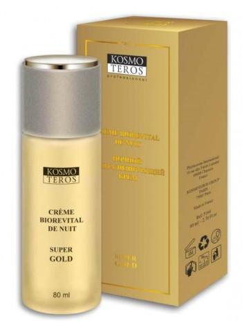 Ночной ревитализирующий крем SUPER GOLD, Космотерос - Антивозрастной крем с пептидами для возрастной кожи, с бесплатной доставкой по Москве.