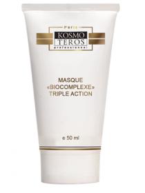 Активная маска Тройной биокомплекс, Kosmoteros (Космотерос), 50 мл - Эффект применения - ANTI-AGE / УВЛАЖНЕНИЕ