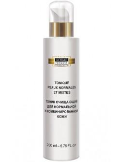 Тоник очищающий  для нормальной и комбинированной кожи, Космотерос, пептиды, гиалуроновая кислота, бесплатная доставка по Москве.