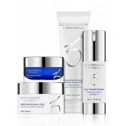 Набор – Ежедневная программа по уходу за кожей (фаза 1) ZO Skin Health, Obagi (Обаджи), 4 средства - Эффект применения ANTI-AGE / ОТШЕЛУШИВАНИЕ