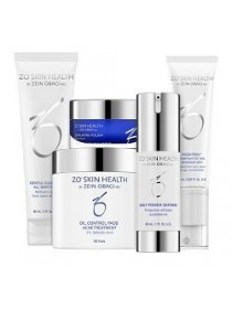 Набор - Система нормализации состояния кожи ZO Skin Health, Obagi (Обаджи), 5 средств - Эффект применения ANTI-AGE / УВЛАЖНЕНИЕ / УСПОКАИВАЮЩИЙ ЭФФЕКТ