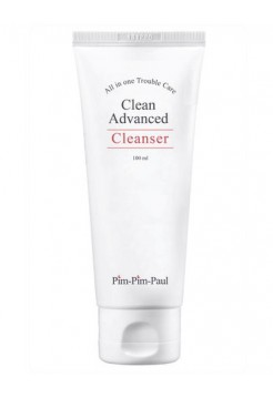 Гель-пенка очищающая для проблемной кожи - Clean Advanced Cleanser, PIM PIM PAUL, 100 мл - Эффект применения - АНТИ-АКНЕ / ОЧИЩЕНИЕ / ПРОТИВОВОСПАЛИТЕЛЬНЫЙ ЭФФЕКТ