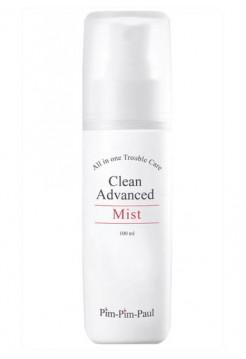 Спрей увлажняющий для жирной кожи (тоник) - Clean Advanced Mist, PIM-PIM-PAUL, 100 мл - Эффект применения - АНТИ-АКНЕ / ПРОТИВОВОСПАЛИТЕЛЬНЫЙ / СЕБОРЕГУЛИРУЮЩИЙ ЭФФЕКТ / УВЛАЖНЕНИЕ