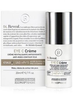 Eye C Cream Renophase, Крем для век, 20 мл, с гликолевой кислотой и витамином С, осветляет, устраняет морщины, бесплатная доставка по Москве.