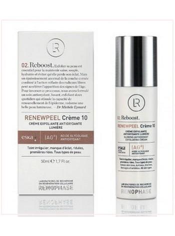 Антивозрастной крем Реньюпил 10 - RENEWPEEL Cream 10, Renophase, 50 мл - омолаживающий крем для лица с бесплатной доставкой по Москве.