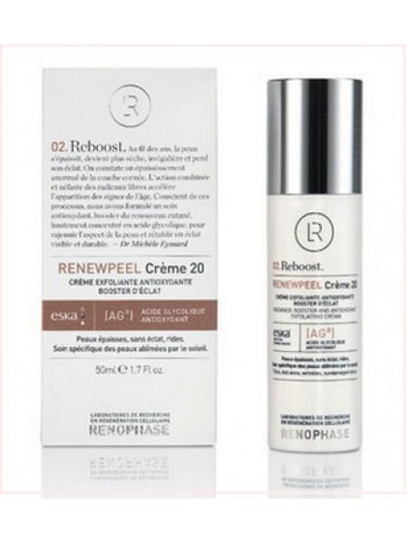 Реньюпил 20 (Ренофаз) - RENEWPEEL Creme 20, Renophase, Антивозрастной крем, 50 мл - Эффект применения - ANTI-AGE / ВОССТАНАВЛИВАЮЩИЙ ЭФФЕКТ