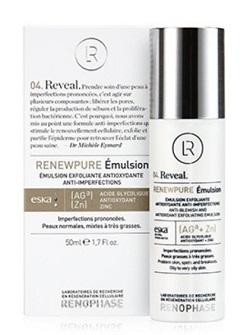 Эмульсия Реньюпьюр RENEWPURE Emulsion, Renophase, сужает поры, уничтожает микробы, себорегуляция, купить с бесплатной доставкой по Москве.