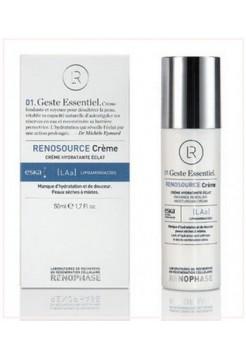 Крем Реносурс увлажняющий Renosource Creme Hydratante Eclat, Renophase, 50 мл - Эффект применения - УВЛАЖНЕНИЕ